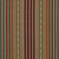 Ralph Lauren Upholstery fabric. Sourced from India. Calle Arroyo Stripe - Cochineal