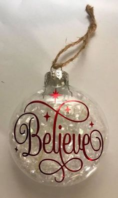 6 amazing DIY Christmas tree ornaments homemade design ideas Source by Clear Christmas Ornaments, Vinyl Ornaments, Christmas Ornament Crafts, Xmas Crafts, Christmas Diy, Glitter Ornaments, Cricut Ornament, Homemade Ornaments, Christmas Design
