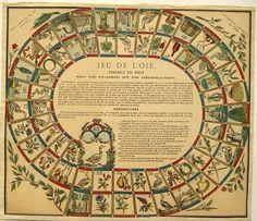 Jeu de l'Oie - Game of the Goose - Gioco dell'Oca1870/85 Percorso di 63 caselle numerate Pellerin Francia-Epinal XIX secolo (3°-4°/4)