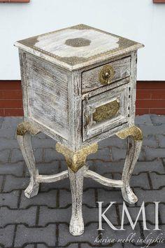 meble indyjskie oreintalne kolonialne z Indii, szafeczka konsola z drewna http://karinameble.pl/meble-indyjskie-stolik-pod-telefon-MA43NEW.html