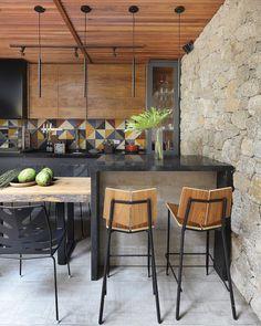 Kitchen And Kitchenette, Loft Kitchen, Kitchen Dinning Room, Rustic Kitchen, Outdoor Kitchen Patio, Rustic Patio, Estilo Industrial Chic, Rooftop Terrace Design, Small Balcony Decor