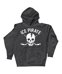 Loving this Heather Charcoal 'Ice Pirate' Hoodie on #zulily! #zulilyfinds