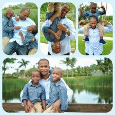 Father and son photo shoot at Bahamar Garden Strip.