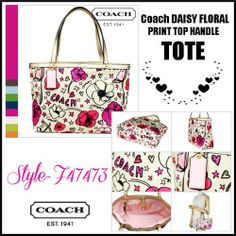 'COACH Daisy Floral Print Top Handle Tote Bag' is going up for auction at  2pm Fri, Jan 17 with a starting bid of $90.