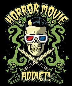 Horror Movie addict by HorrorRudey on DeviantArt Horror Icons, Horror Films, Horror Art, Nerd Girl Problems, Horror House, Danse Macabre, Creatures Of The Night, Witch Aesthetic, Halloween Art