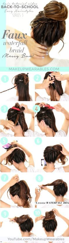 Tutorial for faux waterfall braid!