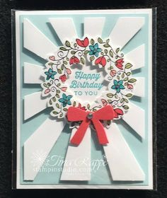 Stampin' Studio, Stampin' Up! Sunburst Thinlits, Circle of Spring, Wonderful Wreath Framelits
