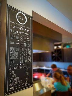 New Menu board for Art House Cafe- Tacoma, WA. Stadium district. Chalkboard coffee menu. Coulouranddust