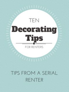 Here are 10 great ideas to spruce up your rental home! These tips cross over to homeowners too!
