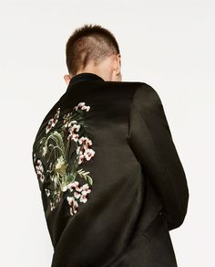 9e8edfa34e357 Image 5 of SATEEN BOMBER JACKET from Zara Man Fashion