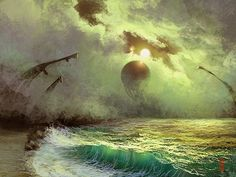 Digital Paintings by RHADS    I think this counts as a fantasy nature scene.. :D