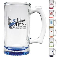 FOOTBALL TIME IN AMERICA! Get Customized Barware! Check out our Fantastic Drinkware Section for Beer & Drinks! These make great gifts this holiday season! Promotional 12.5 oz. Custom Glow Thumbprint Tankard Mug - Customized Bar Glassware