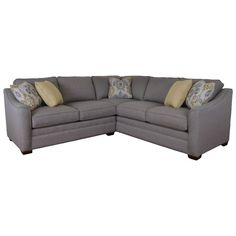 Craftmaster F9 Custom Collection Two Piece Customizable Corner Sectional Sofa with Right Return