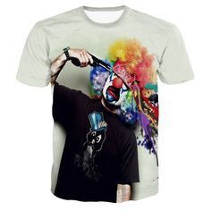 Suicide Clown 3D Print T-Shirt