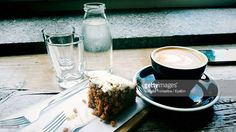 Stock Photo : Coffee And Cake On Table