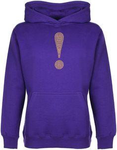 Exclamation Mark Rhinestone embellished Kid's Hoodie Sweatshirt Gift for Girls #GuildenFDMFruitOfTheLoomorequivalent #Hoodie