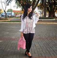Diário da Moda: Look do dia: Calça legging e blusa floral