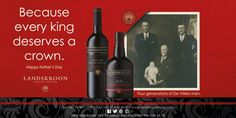 The Wines of Paul and Hugo De Villiers R Man, Happy Fathers Day, Tree Branches, Wines, Art Pieces, Bottle, People, How To Make, Happy Valentines Day Dad