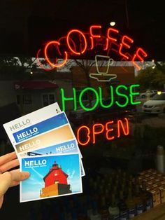 We just added a fresh batch of our Hello From Grand Haven postcards to The Coffee Grounds on Washington.