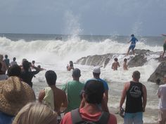 Snapper Rocks, one of Gold Coast Beaches in Queensland, during Quicksilver and Roxy Pro Surfing Contests 2012