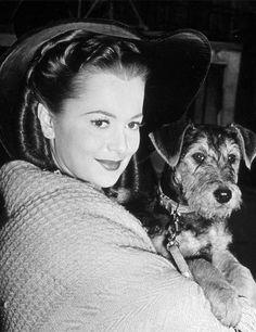 Olivia de Havilland on the set of Devotion, 1946