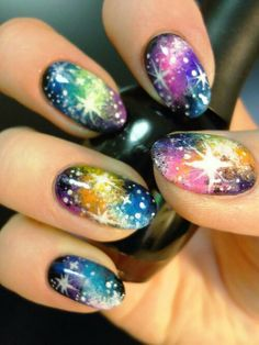 uñas galaxya paso a paso en youtube