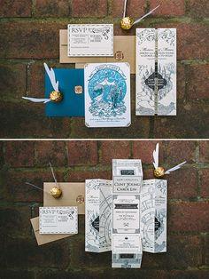 Harry Potter themed invitations @weddingchicks