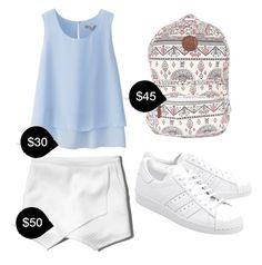 """""""My First Polyvore Outfit"""" by nelissatimothee ❤ liked on Polyvore featuring Uniqlo, Abercrombie & Fitch, Billabong and adidas Originals"""