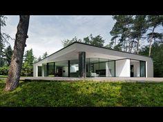 De leefruimte is naar het zuiden gericht en transparant om de omgeving maximaal te ervaren.