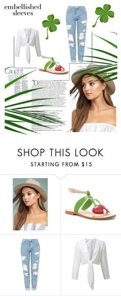 """""""beauty"""" by selmaimamovic ❤ liked on Polyvore featuring Balmain, LULUS, Cornetti, Topshop and GREEN"""