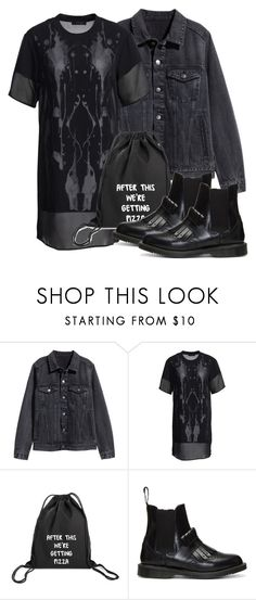 """Damon Inspired Outfit"" by fangsandfashion ❤ liked on Polyvore featuring H&M, Tiger of Sweden and Dr. Martens"