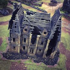 """81 Likes, 4 Comments - Printable Scenery.com (@printablescenery) on Instagram: """"#3dprinted ruined French chateau #boltaction #flamesofwar #malifaux2e www.printablescenery.com"""""""