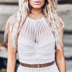 A beautiful soul in a beautiful dress | @rochelle_fox looking like a goddess in the hand-knotted Nexus dress #stunning #beauty #macrame #crochet #dress #enigma #fashion #style #lifestyle #blogger