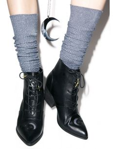 Aura Boot Y. Aura Boot cuz we lurrrvvve you to the moon, stars, and… Witch Fashion, Dark Fashion, Sock Shoes, Shoe Boots, Tall Boots, Ankle Boots, Yennefer Of Vengerberg, Modern Witch, Punk