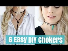DIY Chokers | 6 Styles! Over 30 Variations! Bolo Wrap, Minimal, Circle, Pendant | Raylene Harvey - YouTube