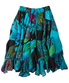 Joe Browns Flirty Flippy Patchwork Skirt - handcrafted and 100% unique, you'll never find anyone else wearing this skirt!