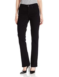 NYDJ Women's Billie Mini Bootcut Jeans, Black, 16 Nydj new boot cut. Billie mini boot offers a more contempory boot cut fitRise: 9.75 ; inseam: 33 ; leg opening: 17NYDJ exclusive lift tuck technology slims from within to make you look and feel amazingFor best fit results please select one size smaller