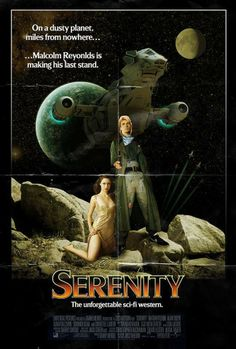 70's style Serenity poster.