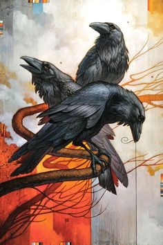 The Raven is the symbol of the Criminal group lead by the ferocious, insane-but-ingenious Un-Restricted named Cyrus. He bears the Raven tattoo on his forehead for everyone to see. Crow Art, Bird Art, Tatoo Brothers, 3 Brothers, Tatoo Bird, Street Art, Raven Bird, Quoth The Raven, Crows Ravens