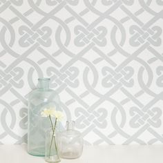 Kimberly Lewis Home Knotted Geometric Wallpaper | Wayfair