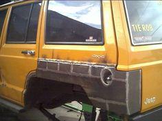 Jeep xj rear quarter panel armor tail light box