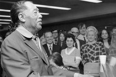 1971: Duke Ellington plays at a Berklee commencement reception.
