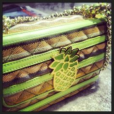 Photo by yamilasofia  #moschino #mymoschino #pineapple #green #summer #fruit