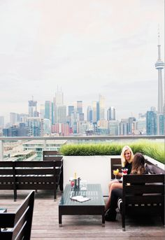 Relaxing on the #rooftop bar at the Thompson #Toronto.