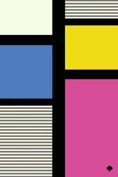 Kate Spade graphic stripes mondrian block style iphone wallpaper phone background lock screen