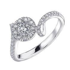 18K/750 WHITE COLOR GOLD DIAMOND RING #diamond #mabelle #ring #eshop #ring #wedding