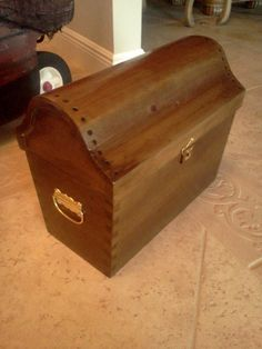 Treasure Chest Toy Box Wooden Toy Chest Unfinished Wood