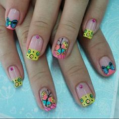 Mani Pedi, Pedicure, Pretty Nail Designs, Paws And Claws, Pretty Nails, Hair And Nails, Nail Colors, Iris, Butterfly