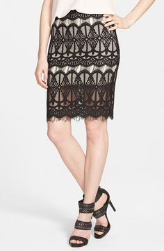 J.O.A. Illusion Lace Skirt available at #Nordstrom
