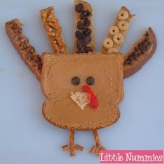 A number of cute turkey snack ideas for kids